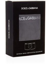 Dolce & Gabbana Regular Boxers (2 Pack) - Black
