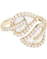 Anita Ko - Medium Yellow Gold Leaf Ring - Lyst