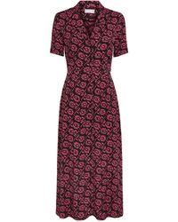 Claudie Pierlot Floral Maxi Dress - Red