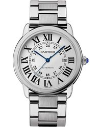 Cartier - Stainless Steel Ronde Louis Watch 42mm - Lyst