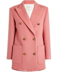 Sandro Marcus Double-breasted Coat - Pink