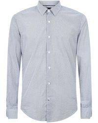 BOSS - Geometric Print Shirt - Lyst