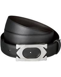 Cartier - Leather Double C Logo Belt - Lyst
