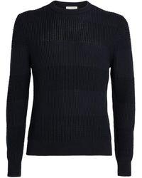 Sandro Stripe-knit Sweater - Blue