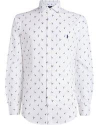 Polo Ralph Lauren Cotton Flamingo Print Shirt - White