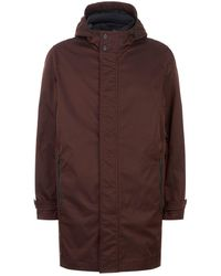 Ted Baker   Stack Hooded Mac Coat, Red, 6   Lyst