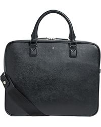Montblanc Sartorial Leather Briefcase Portfolio - Black