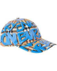 Burberry - Graffiti Vintage Check Baseball Cap - Lyst