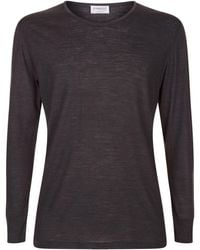 Zimmerli - Wool And Silk Long Sleeve Top - Lyst