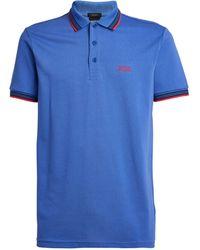 BOSS by Hugo Boss Logo-embroidered Polo Shirt - Blue