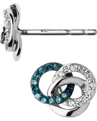 Links of London - Treasured Silver & Diamond Stud Earrings - Lyst