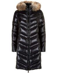 Moncler - Fulmar Fox Fur Trim Coat - Lyst