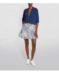 MAX&Co. Printed Mini Skirt - Grey
