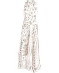 Acler Satin Palmera Maxi Dress - White