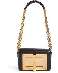 Tom Ford Small Leather Natalia Shoulder Bag - Black