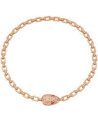 BVLGARI - Rose Gold And Diamond Serpenti Seduttori Necklace - Lyst