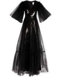 Huishan Zhang Juno Sequin-embellished Tulle Gown - Black