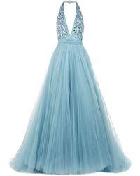 Jenny Packham - Halterneck Tulle Gown - Lyst