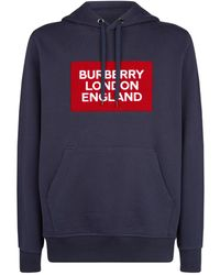 Burberry - Logo Patch Hoodie - Lyst