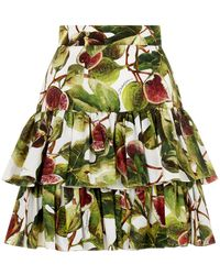 Dolce & Gabbana - Fig Tiered Mini Skirt - Lyst