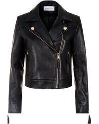 Claudie Pierlot - Tassel-trim Leather Jacket - Lyst