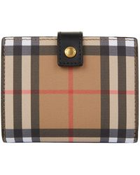 Burberry - Lakeside Vintage Check Small Leather Purse - Lyst