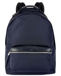Sandro - Leather Trimmed Backpack, Blue, Tu - Lyst