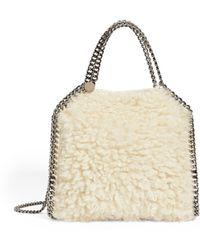 Stella McCartney Mini Faux Fur Falabella Tote Bag - Natural