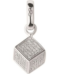 Links of London - Sterling Silver And Diamond Sugar Cube Bracelet Charm - Lyst