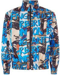 Burberry - Graffiti Archive Scarf Print Shell Jacket - Lyst