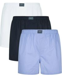 Ralph Lauren Classic Cotton Boxer Shorts (pack Of 3) - Blue