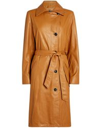Rag & Bone Classic Leather Trench Coat - Natural