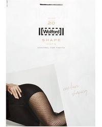 Wolford Polka-dot Control-top Tights - Black