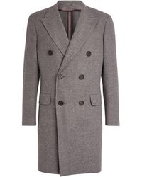 Canali Wool-cashmere Overcoat - Grey
