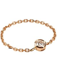 RedLine - Yellow Gold Diamond Chain Ring - Lyst