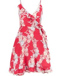 Athena Procopiou - Heartbeats Floral Wrap Dress - Lyst