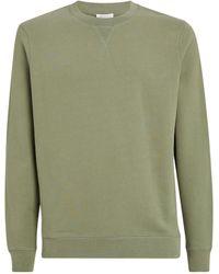 Sunspel Loopback Cotton Sweatshirt - Green