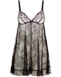 Aubade - Embroidered Babydoll Dress - Lyst