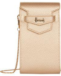 Harrods - Nano Mini Gold Bag - Lyst