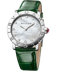 BVLGARI Mother-of-pearl And Diamond Bulgari Bulgari Lady Watch 33mm - Metallic