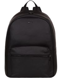 Armani Jeans - Leather Logo Backpack - Lyst