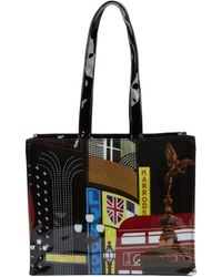 Harrods Piccadilly Shoulder Bag - Black