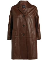 Weekend by Maxmara Leather Trench Coat - Brown