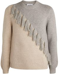 JW Anderson - Colour-block Tassel Sweater - Lyst