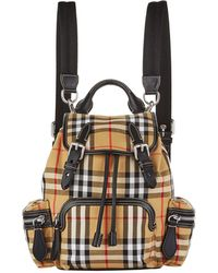 Burberry - Small Vintage Check Backpack - Lyst