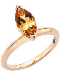 Stephen Webster Yellow Gold And Citrine Gemstone Jitterbug Stacking Ring - Metallic