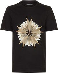 Neil Barrett Golden Aura T-shirt - Black