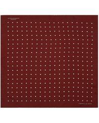 Turnbull & Asser - Polka Dot Silk Pocket Square - Lyst