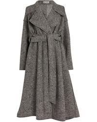 Issey Miyake Wool Strata Wrap Coat - Grey