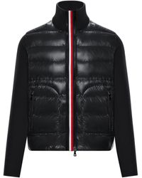 Moncler Quilted Zip-up Cardigan - Black